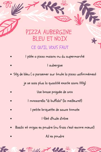 PIZZA AUBERGINES BLEU ET NOIX