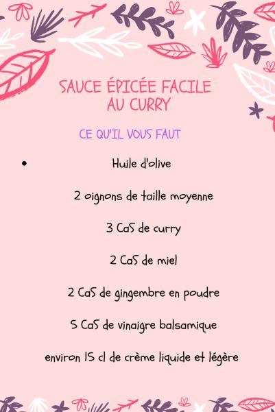 SAUCE EPICEE POUR LE RIZ