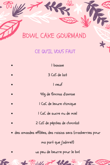 BOWL CAKE GOURMAND - COOKING BY MISS PURPLE