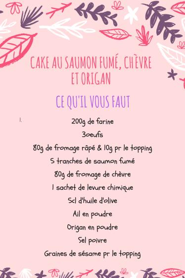 Cake au saumon fumé, chèvre et origan-cookingbymisspurple