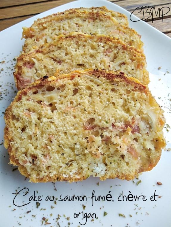 cake saumon fumé, chevre et origan - cookingbymisspurple (3)