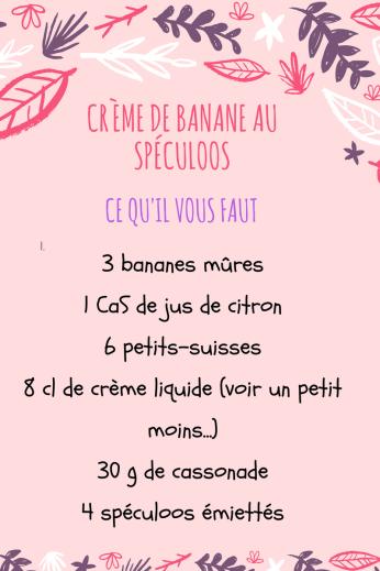 Crème de banane au spéculoos-cookingbymisspurple