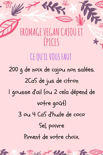 Fromage vegan cajou et épices- cookingbymisspurple