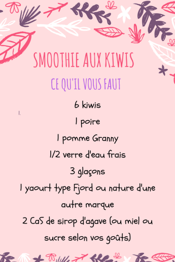 SMOOTHIE AUX KIWIS- COOKIGBYMISSPURPLE