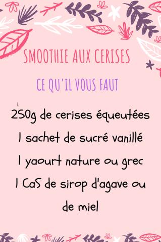 smoothies aux cerises