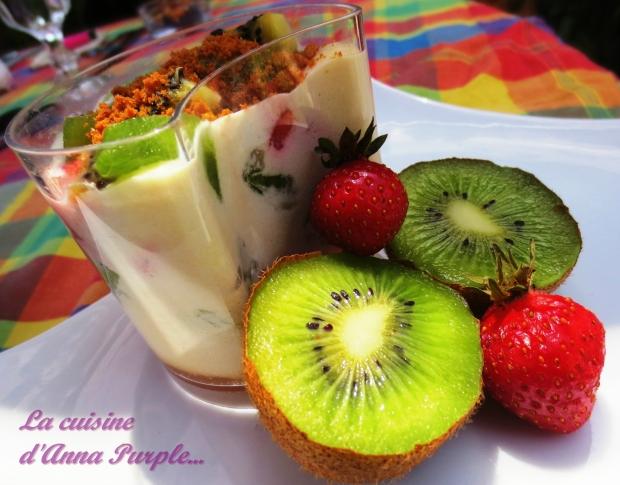 tiramisu fraises, kiwis et spéculoos