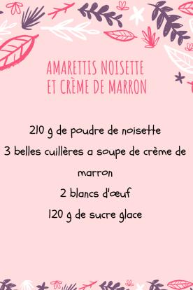 Amarettis noisette et crème de marron